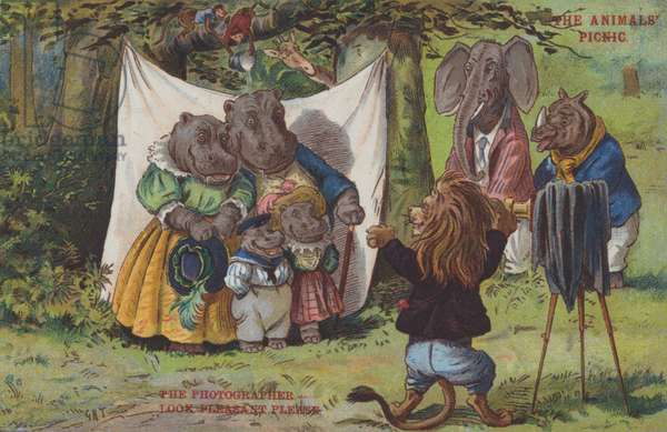 The Animals' Picnic (colour litho)