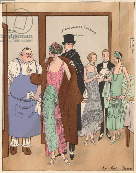 Women's fashion of the 1920s by designer Christoph Drecoll (colour litho)