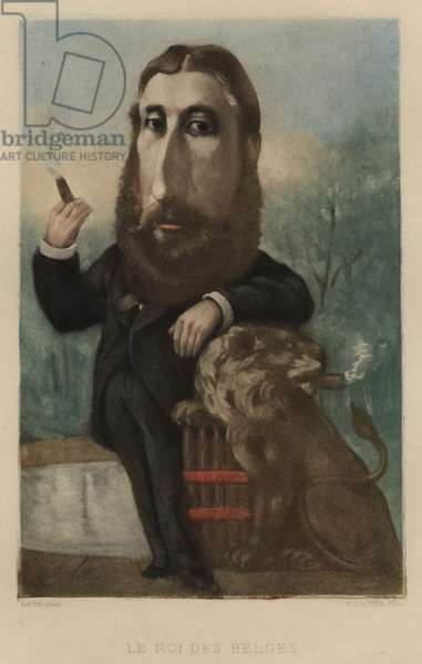 Leopold II, King of the Belgians (colour litho)