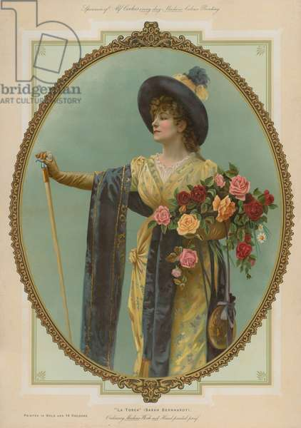 La Tosca, Sarah Bernhardt (chromolitho)