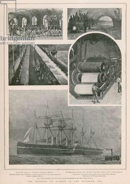 The progress of science in the Victorian era (photogravure)