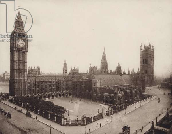 Palace of Westminster, London (b/w photo)