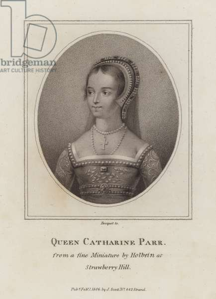 Catherine Parr, sixth wife of King Henry VIII (engraving)