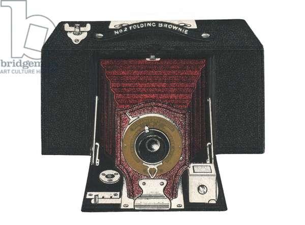 Kodak Number Two Folding Brownie camera (chromolitho)
