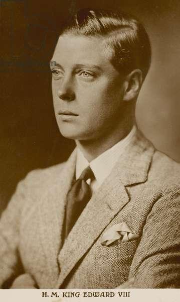 King Edward VIII (b/w photo)