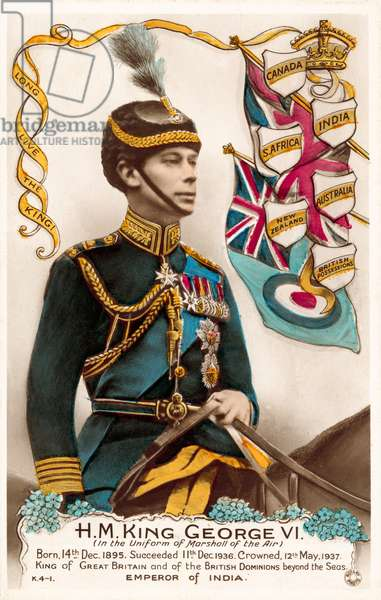 King George VI, Uniform Of Marshall Of The Air (colour photo)