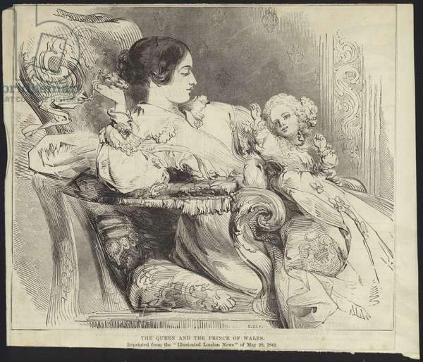 Queen Victoria and the Prince of Wales (engraving)