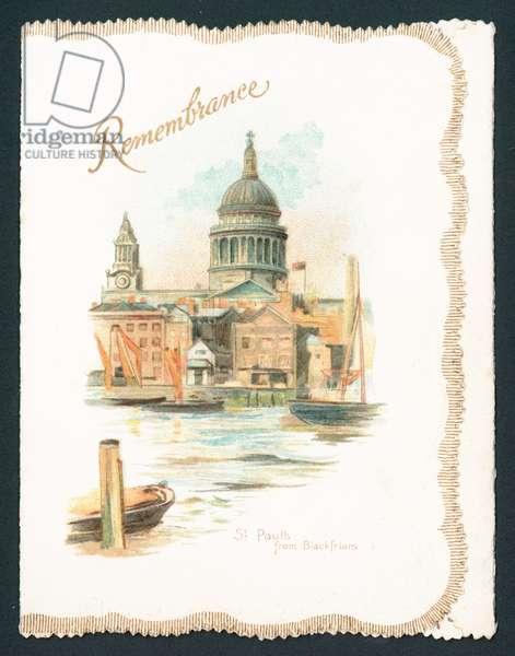 St Pauls from Blackfriars - Rememberance, Card (chromolitho)