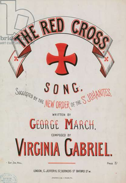 The Red Cross Song (colour litho)