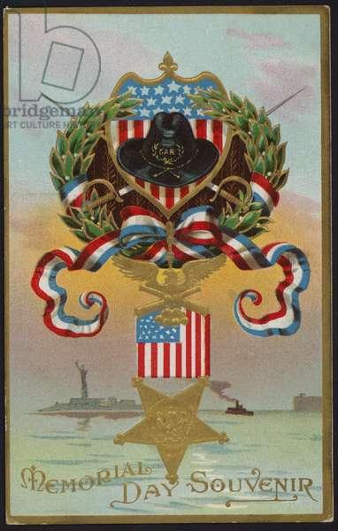 Memorial Day card (colour litho)