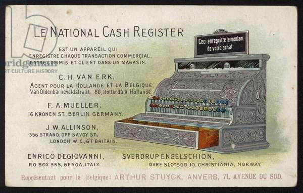 Advertisement for Le National cash register (chromolitho)