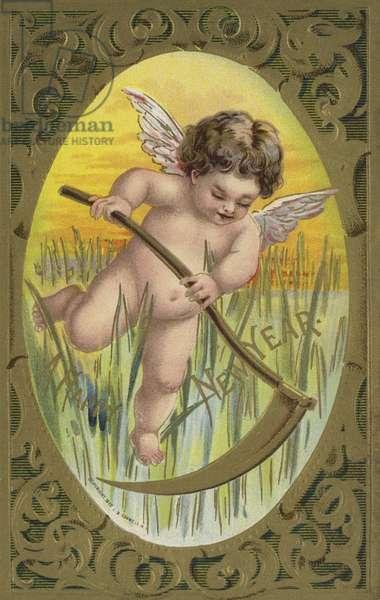 New Year card (chromolitho)