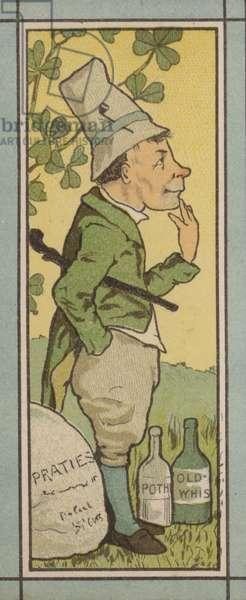 Menu illustration: Ireland (colour litho)
