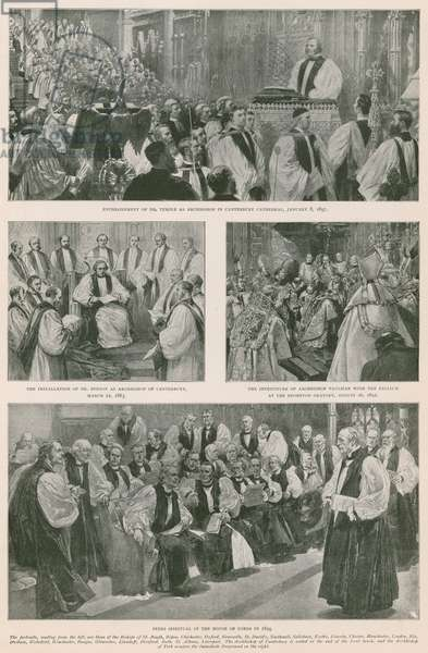 Events in the Church of England during the reign of Queen Victoria (photogravure)