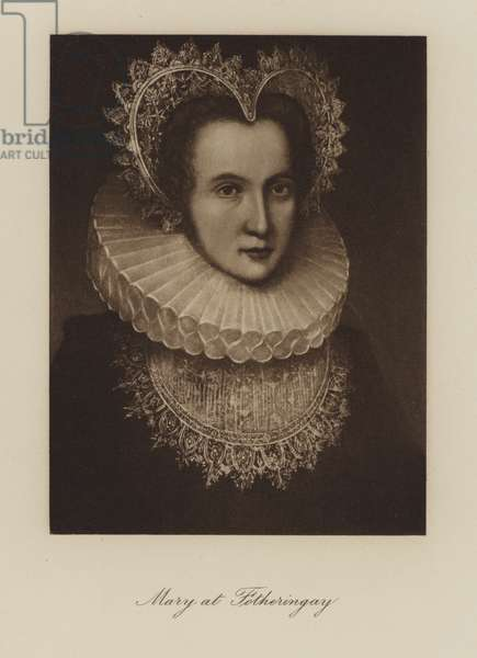 Mary, Queen of Scots, at Fotheringay Castle during her imprisonment (engraving)