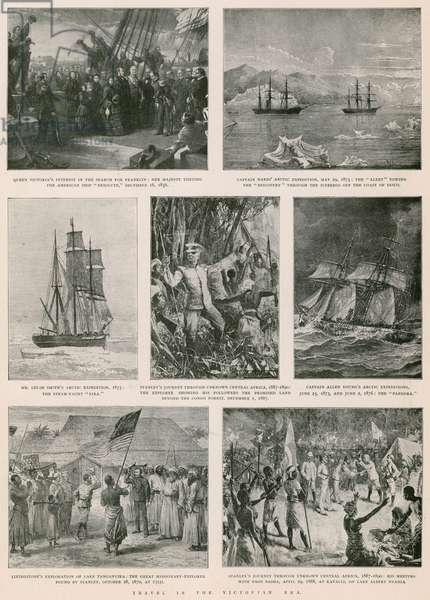 Travel in the Victorian era (photogravure)