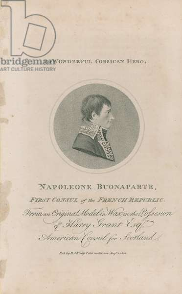 Portrait of Napoleon Bonaparte (engraving)