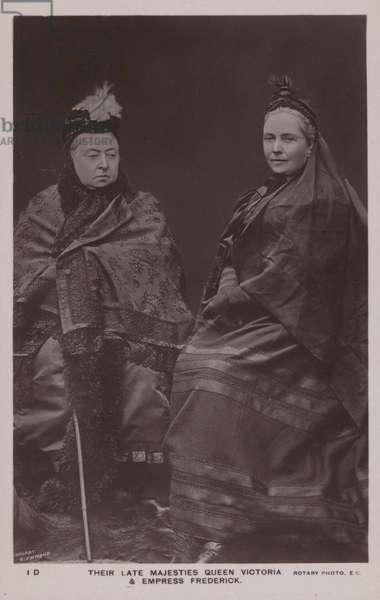 Queen Victoria, Empress Frederick (b/w photo)