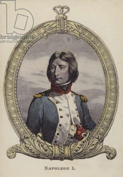 Napoleon I of France (colour litho)