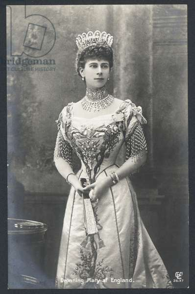 Queen Mary of England (b/w photo)