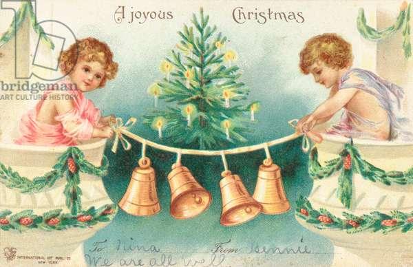 American Christmas card (colour litho)