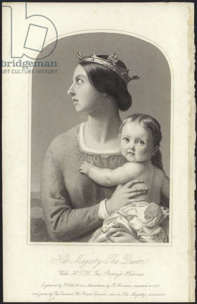 Queen Victoria and Princess Helena (engraving)