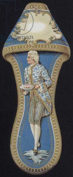 Man in 18th Century costume (colour litho)