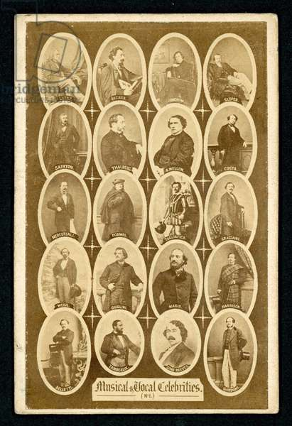 Musical and vocal celebrities, 19th Century (litho)