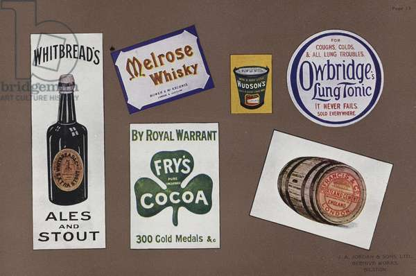 Page from Jordan's Enamelled Signs (colour litho)