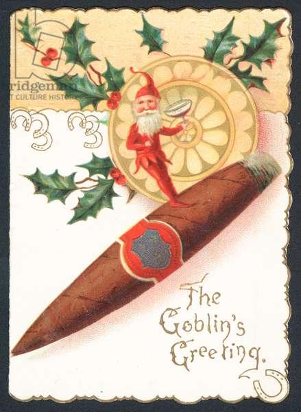 Christmas card - The Goblin's Greeting (chromolitho)