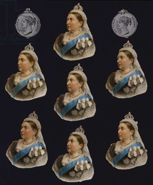 Queen Victoria, portraits and medals (chromolitho)