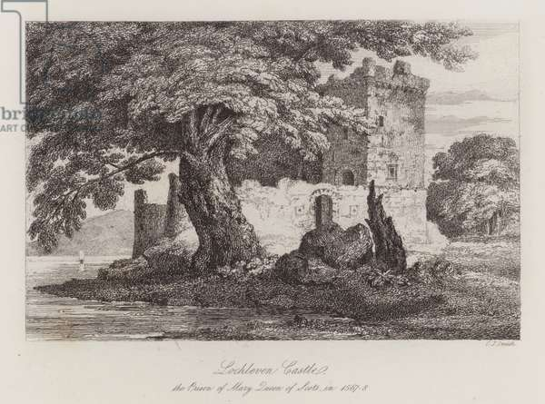 Lochleven Castle, Scotland, the prison of Mary, Queen of Scots in 1567-1568 (engraving)