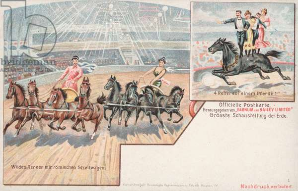Equestrian acts of Barnum and Bailey's Circus (chromolitho)