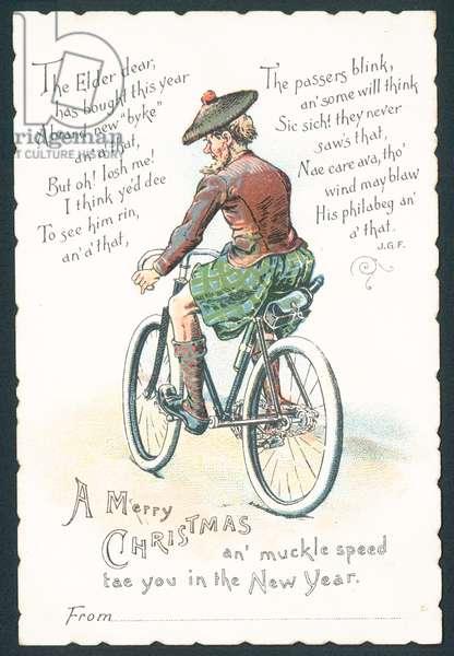 Scottish Christmas card (chromolitho)