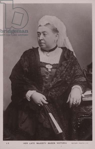Queen Victoria (b/w photo)