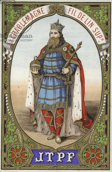 Label for Charlemagne thread (colour litho)