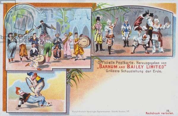 Performers of Barnum and Bailey's Circus (chromolitho)
