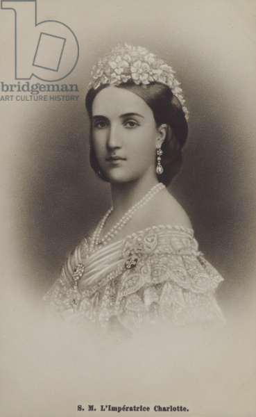 Empress Charlotte Of Mexico (b/w photo)