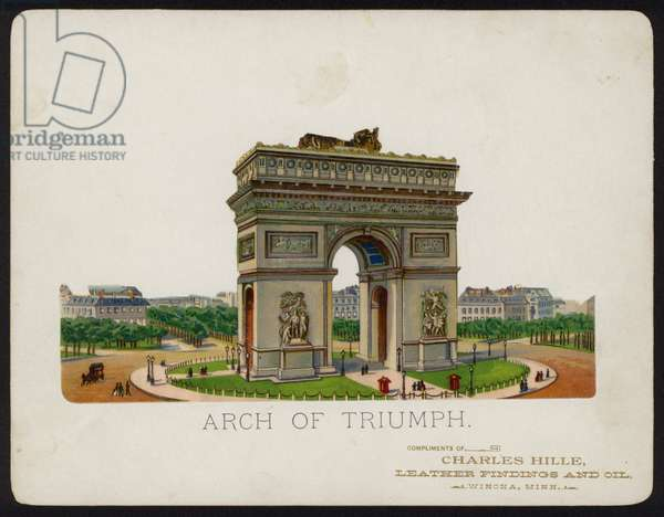Arc de Triomphe, Paris, France (chromolitho)