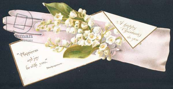 Lily of the Valley, Christmas Card (chromolitho)