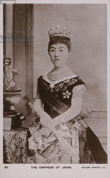 Empress Shoken, wife of Emperor Meiji of Japan (b/w photo)