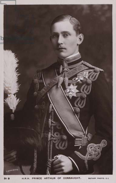 Prince Arthur Of Connaught (b/w photo)