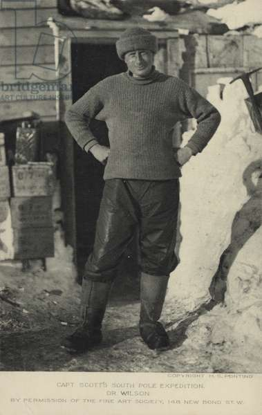 Captain Scott's South Pole Expedition. Dr Wilson. (b/w photo)