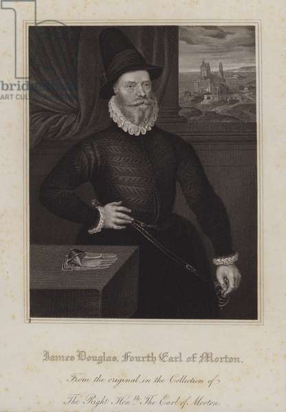 James Douglas, 4th Earl of Morton, Regent of Scotland during the minority of King James VI (engraving)