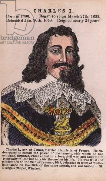 King Charles I (coloured engraving)