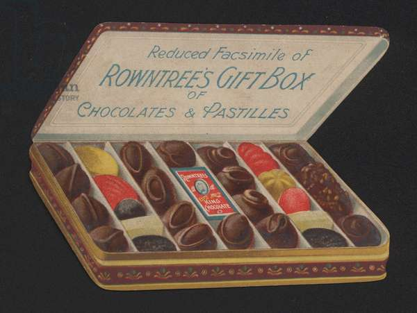 Gift box of Rowntree's chocolates and pastilles (chromolitho)