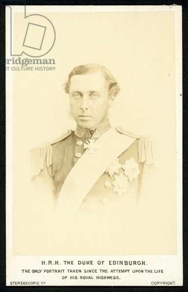 Prince Alfred, Duke of Edinburgh (b/w photo)