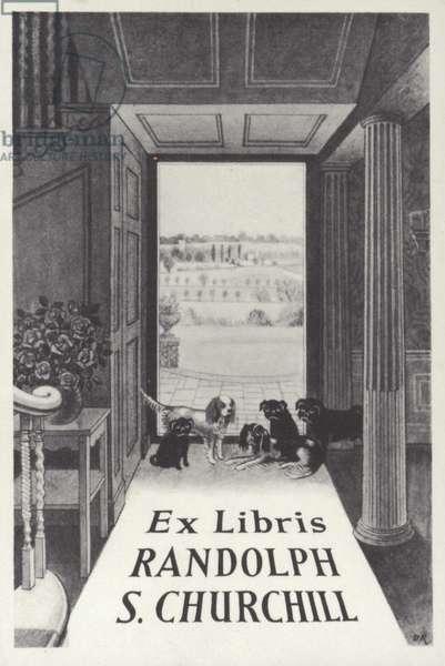 Ex Libris Randolph S Churchill (litho)