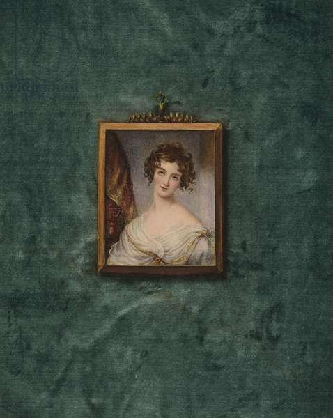 Portrait of an unknown lady (colour litho)