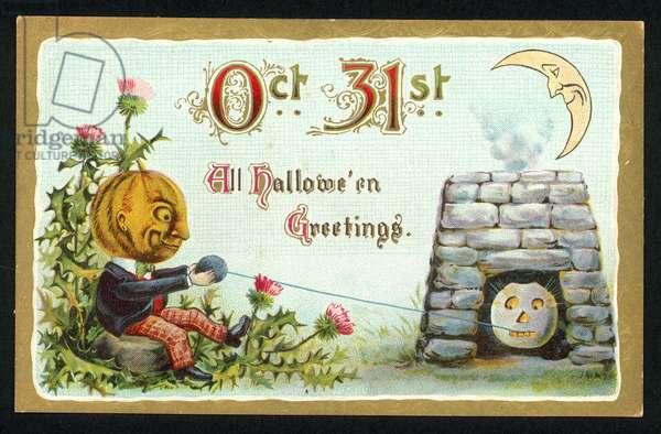 Halloween card (chromolitho)